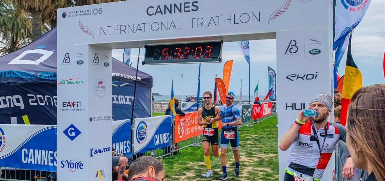 Finisher du Cannes International Triathlon 2019