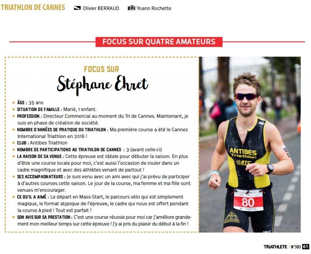 Article sur Steph Explore dans Triathèle Magazine